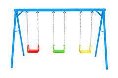 Children colorful playground swing Royalty Free Stock Photo