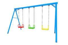 Children colorful playground swing Royalty Free Stock Images