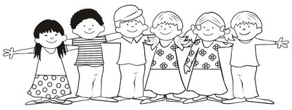 Happy family holding hands vector stock vector for Friends coloring pages for preschoolers