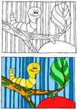 Children coloring illustration Royalty Free Stock Photography