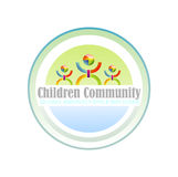 children community symbol 免版税库存照片