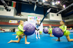 Children compete in the SpringCup international dance competition Stock Photo