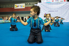 Children compete in the SpringCup international dance competition Royalty Free Stock Photos