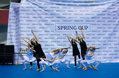 Children compete in the SpringCup international dance competition Stock Photos