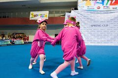 Children compete in the SpringCup international dance competition Royalty Free Stock Images