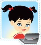 Children on computer Royalty Free Stock Images