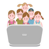 Children at the computer Stock Photo
