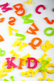 Children concept with colorful letters Royalty Free Stock Photo