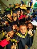 Children Convocation Day. Children convocation finish lower educatio Stock Photos
