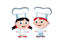 Children cook Royalty Free Stock Photo