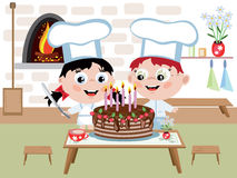 Children cook Stock Photo