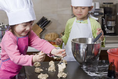 Children Cooking Stock Image