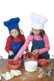 Children Cooking Stock Photo