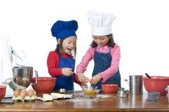 Children Cooking Stock Photo
