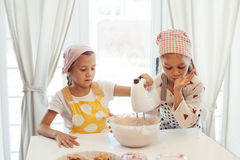 Children cooking in the kitchen Stock Image