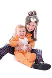 Children in costumes Stock Photos