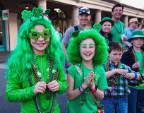 Children in costumes St. Patrick`s Day Parade Royalty Free Stock Photo