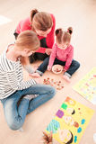 Children counting money. Earned during school fair Royalty Free Stock Photography