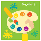Children creativity and art development Stock Image