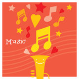 Children creativity and musicality development. Modern flat  illustration set. Design element Royalty Free Stock Photos