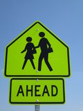 Children Crossing Ahead Sign Stock Photo