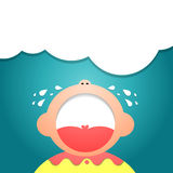 Children Cry illustrator Eps 10. Cartoon images of crying children.Illustrator EPS 10 Royalty Free Stock Photos