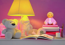 Children& x27; cuento de hadas de s para la noche Imagenes de archivo