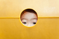 Children curious eyes royalty free stock photography
