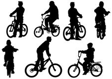Children cycling Stock Images