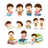 Children czytelnicza książka różnorodne akcje ilustracji