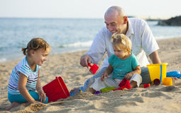 Children with Dad Royalty Free Stock Image