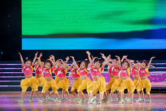 Children dance: Aerobics Stock Images