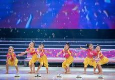 Children dance: Aerobics Stock Photo
