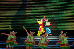 Children dance: Local Tea Picking Opera Royalty Free Stock Images