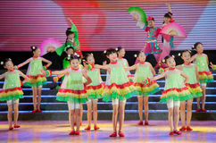 Children dance: Local Tea Picking Opera Stock Photo
