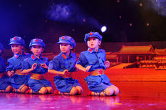Children in the dance performance Royalty Free Stock Images