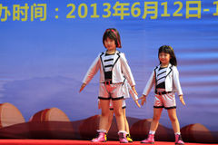 Children dance performance on the stage Stock Photo