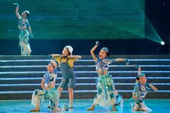 Children dance: small Peacock Stock Image