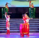 Children dance: young drummer Stock Image