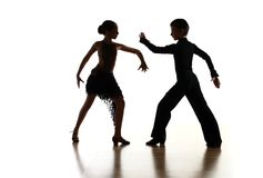 Children dancing. Young dancers in latin dance pose Stock Photography