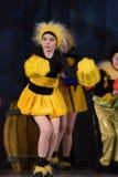 Children dancing in bee costumes Stock Image