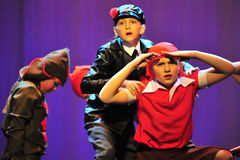 Children from dancing group Royalty Free Stock Photography