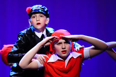 Children from dancing group Royalty Free Stock Image