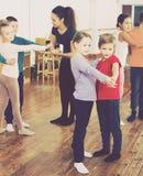 Children dancing pair dance Royalty Free Stock Image