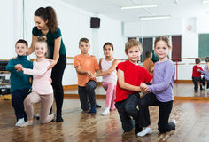 Children dancing pair dance Royalty Free Stock Image