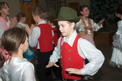 Children dancing polka, editorial use Stock Photography
