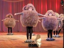 Children dancing rhythmic dance Royalty Free Stock Photos