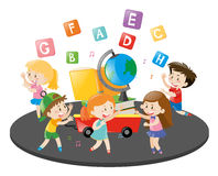 Children dancing and singing song Stock Images
