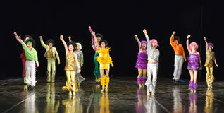Children dancing on stage Royalty Free Stock Photos