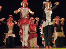 Children dancing on stage Stock Images